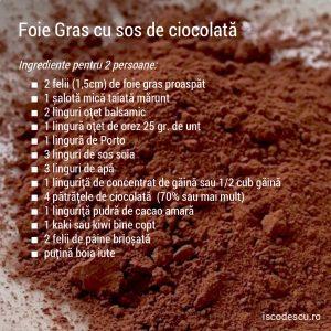 Foie gras cu sos de ciocolată