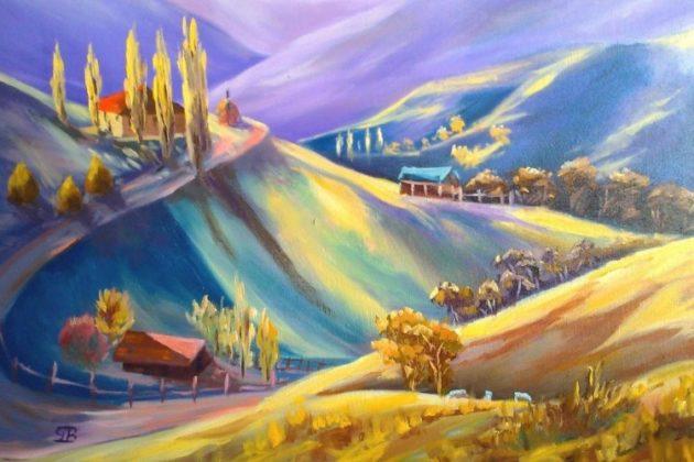 Moeciu - pictură de George Budai