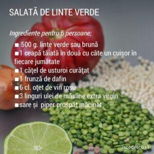 salată de linte verde